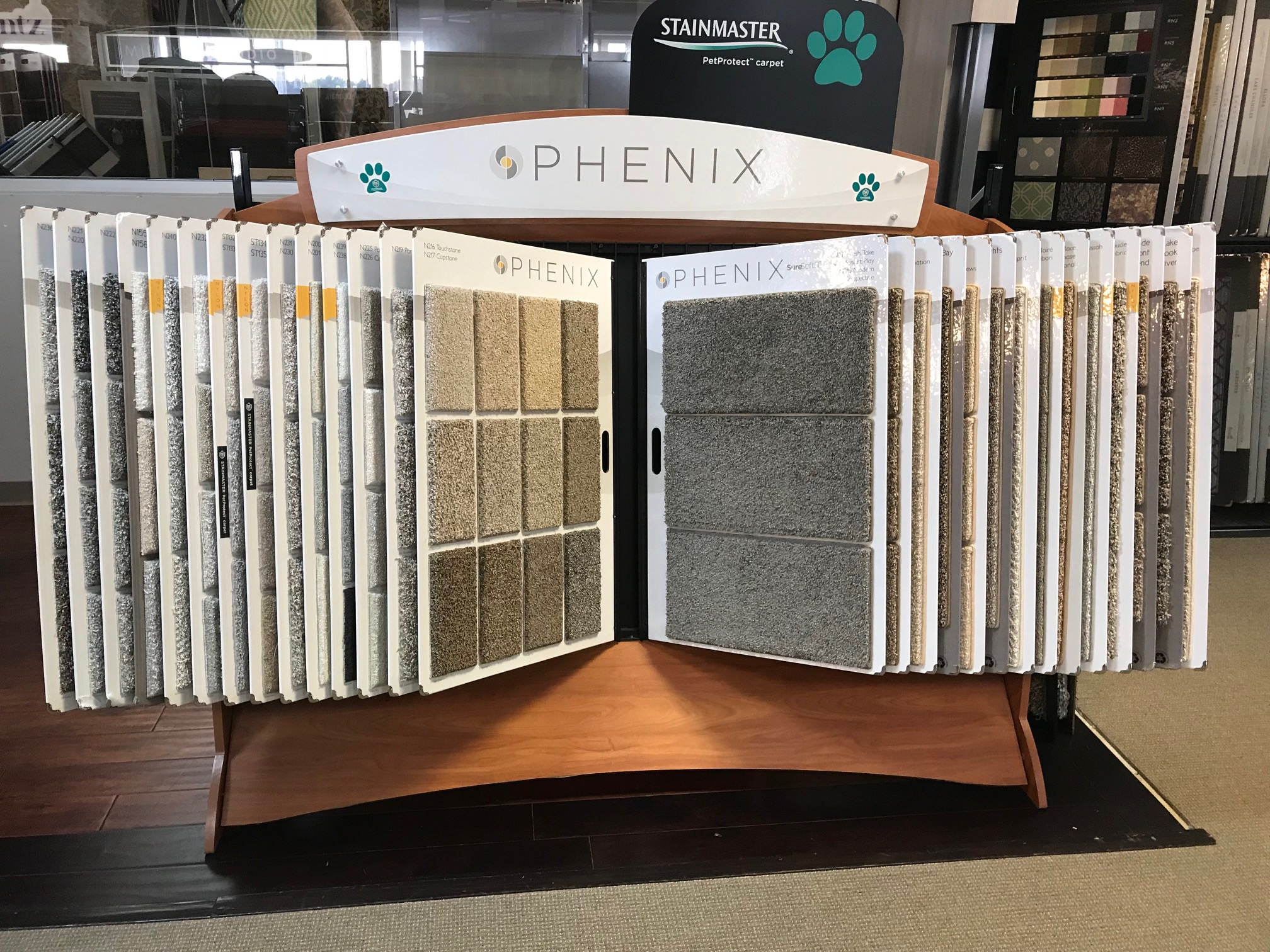 Phenix Display Rack Myers Carpet Of Dalton